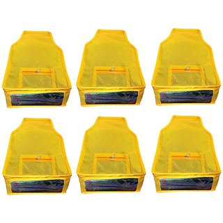 Atorakushon Saree cover/Blouse Cover Wedding Gift, wardrobe organiser vanity pouch Set of 6 yellow