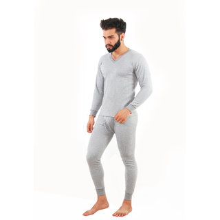 81af69f40f Buy Yorker Light Grey V Neck Thermal Top For Men Online - Get 10% Off