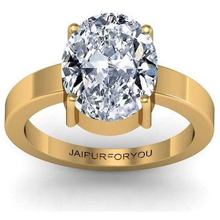 jaipurforyou Certified Zircon 6.50 cts or 7.25 ratti Panchdhatu ring