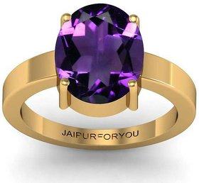 jaipurforyou Certified Amethyst (Katela) 8.30 cts or 9.25 ratti Panchdhatu ring