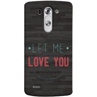 FUSON Designer Back Case Cover for LG G3 S :: LG G3 S Duos ::  LG G3 Beat Dual :: LG D722K :: LG G3 Vigor :: LG D722 D725 D728 D724 (For Rest Of My Life Pink Big Smiling Couples )