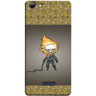 FUSON Designer Back Case Cover for Micromax Canvas Selfie 3 Q348 (Chain Chronicle Weeping Fire Sprite Background)