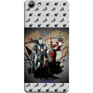 FUSON Designer Back Case Cover for Micromax Canvas Selfie 3 Q348 (Action Hero Childrens Superhero Ironman Vs Black Ironman )
