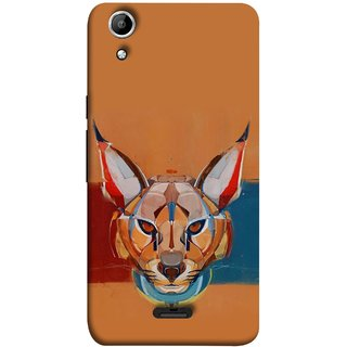FUSON Designer Back Case Cover for Micromax Canvas Selfie 2 Q340 (Multicolour Cat Monkey King Animal Tree Blue Red)