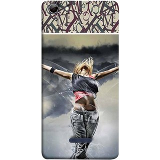 FUSON Designer Back Case Cover for Micromax Canvas Selfie 3 Q348 (Beautiful Female Standing Relaxing Enjoying Moment)