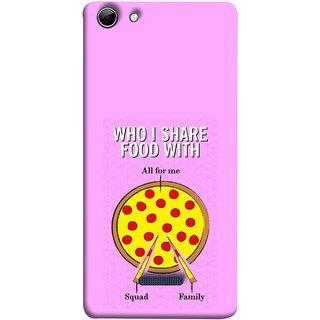 FUSON Designer Back Case Cover for Micromax Canvas Selfie 3 Q348 (Pizza Hut Domino Tomato Pizza Cheese Share Sharing)