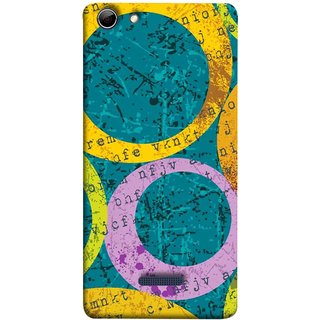 FUSON Designer Back Case Cover for Micromax Canvas Selfie 3 Q348 (Nila Pila Circles Tiles Bright Cool Typography )