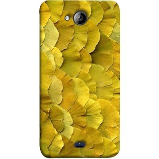 FUSON Designer Back Case Cover for Micromax Canvas Play Q355 (Lotus Leaves In Row Heart Shape Old Dried )