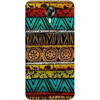 FUSON Designer Back Case Cover for Micromax CanvasNitro4G E371 (Patterns Horizontal Stripes Bedsheet Design Cloths)