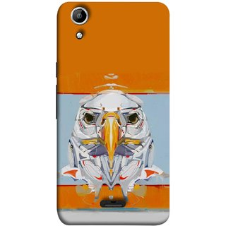 FUSON Designer Back Case Cover for Micromax Canvas Selfie 2 Q340 (Stearing Eyes Deadly Look Canvas Vision Bird Sky High)