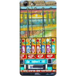 FUSON Designer Back Case Cover for Micromax Canvas Selfie 3 Q348 (Decorated Goods Carrier On Indian Road Stop Dil Tera)
