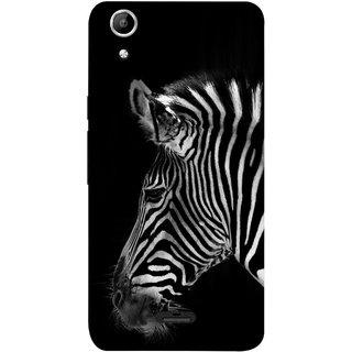 FUSON Designer Back Case Cover for Micromax Canvas Selfie 2 Q340 (Close Up Portrait Of A Baby Zebra Long Ears Strips)