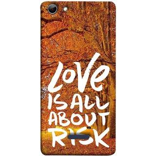 FUSON Designer Back Case Cover for Micromax Canvas Selfie 3 Q348 (Trees Prem Pyar To Badi Risk Hai Very Dangerous )