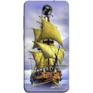 FUSON Designer Back Case Cover for Micromax CanvasNitro4G E371 (Big Ship In Ocean Vintage Tall High)