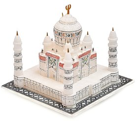 White Marble Taj Mahal Fine Work Showpiece Perfect gift for Loved one, Symbol of Love ,Valentine Gift  Item -size 4 inch