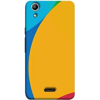 FUSON Designer Back Case Cover for Micromax Canvas Selfie 2 Q340 ( Large Medium Circles Orange Yellow Red Blue Grey)