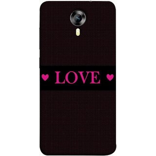 FUSON Designer Back Case Cover for Micromax CanvasNitro4G E371 (Best Gift For Valentine Friends Lovers Couples Baby Pink Red )