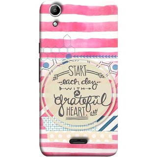 FUSON Designer Back Case Cover for Micromax Canvas Selfie 2 Q340 (Great Hearts Dil Love Everyday Quotes Sunny Bright )