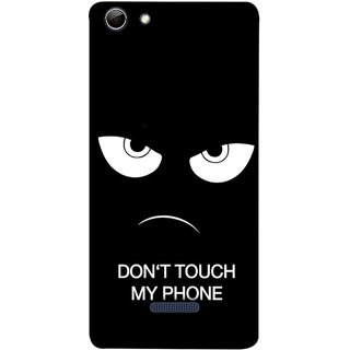 FUSON Designer Back Case Cover for Micromax Canvas Selfie 3 Q348 (Nice Best Quotes Words Saying Motivational Angry Eyes)