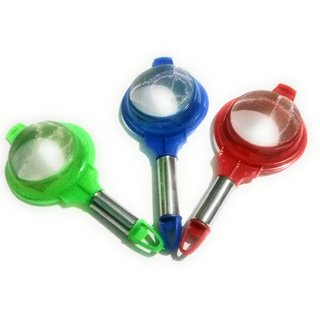 Strainers tea coffee, soup, multicolored strong grip, (Set of 3),colour as per stock