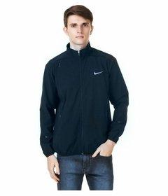 Nike Navy Polyester Lycra Long Sleeve Jacket For Men