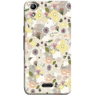 FUSON Designer Back Case Cover for Micromax Canvas Selfie 2 Q340 (Elegant Gentle Trendy Pattern In Small Scale Flower)