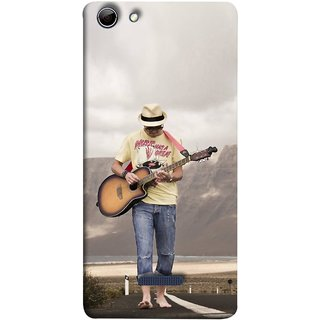 FUSON Designer Back Case Cover for Micromax Canvas Selfie 3 Q348 (Man Walking Road Mountains Sea Shore )