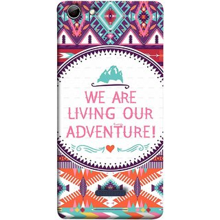 FUSON Designer Back Case Cover for Micromax Canvas Selfie 3 Q348 (Colourful Wallpaper Best Quotes Bright Wall Design)