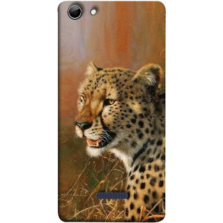 FUSON Designer Back Case Cover for Micromax Canvas Selfie 3 Q348 (Jungle King Stearing Angry Roaring Loud Aslan Panther)