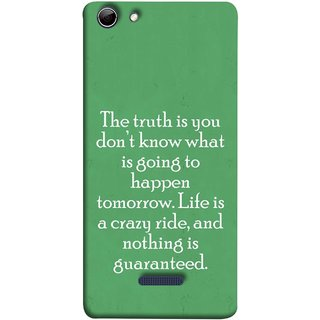 FUSON Designer Back Case Cover for Micromax Canvas Selfie 3 Q348 (Tomorrow Life Is Crazy Ride And Nothing Is Guaranteed)