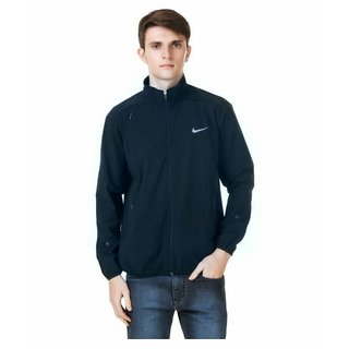 Nike Navy Polyester Lycra Long Sleeve Jacket For Men