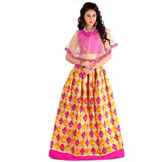 Dwarkesh fashion pink bangalore silk lehenga choli (fenta pink )