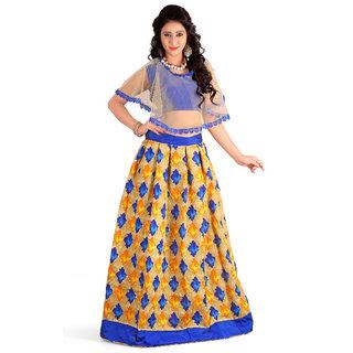 Dwarkesh fashion banglore silk blue lehenga choli(fenta blue)