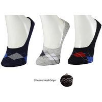 DDH Men Women Solid No Show Socks With Silicone Heel G