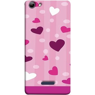 FUSON Designer Back Case Cover for Micromax Canvas Selfie 3 Q348 (Always I Love You Red Hearts Couples Together Valentine)