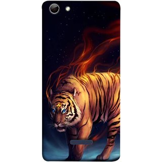 FUSON Designer Back Case Cover for Micromax Canvas Selfie 3 Q348 (Jungle King Stearing Leopard Jaguar Aslan Panther Lion)