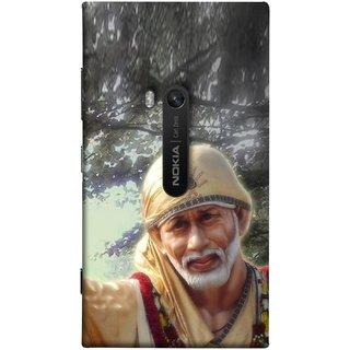 FUSON Designer Back Case Cover for Nokia Lumia 920 :: Micosoft Lumia 920 (Shirdi Wale Sai Baba Sainath God Shradha Saburi Pooja)
