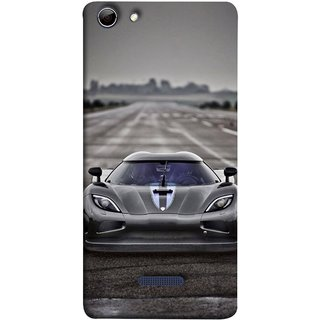 FUSON Designer Back Case Cover for Micromax Canvas Selfie 3 Q348 (Road Black White Clouds Beautiful Road Blue Side Mirror)