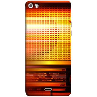FUSON Designer Back Case Cover for Micromax Canvas Sliver 5 Q450 :: Silver Q450 (Blur Music Background With Retro Radio Antique )