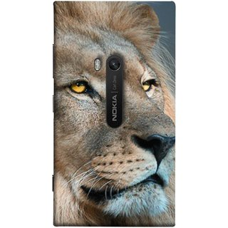 FUSON Designer Back Case Cover for Nokia Lumia 920 :: Micosoft Lumia 920 (Jungle King Stearing Aslan Painting Oil Art )