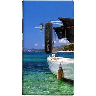 FUSON Designer Back Case Cover for Nokia Lumia 920 :: Micosoft Lumia 920 (Boat Floating In The Clear Water Island Enjoy Holidays)