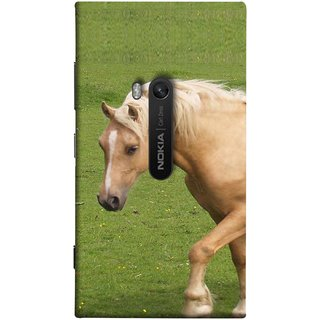 FUSON Designer Back Case Cover for Nokia Lumia 920 :: Micosoft Lumia 920 (White Horse In The Park On The Green Grass)