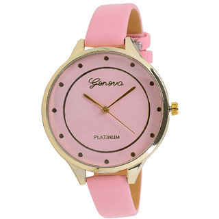 Geneva Platinum Dark Pink Analog Watch For Women Girls
