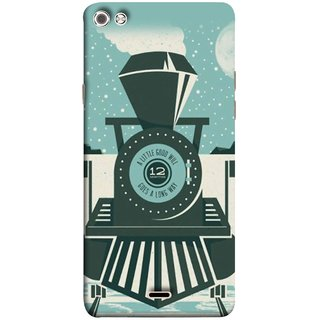 FUSON Designer Back Case Cover for Micromax Canvas Sliver 5 Q450 :: Silver Q450 (Train Engine Smoke Little Good Will Goes Long Way)