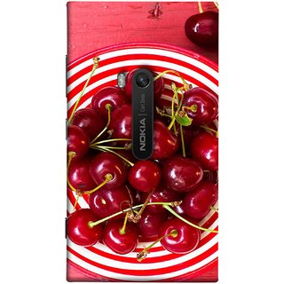 FUSON Designer Back Case Cover for Nokia Lumia 920 :: Micosoft Lumia 920 (Plump Dark Red Farm Fresh Very Tasty )