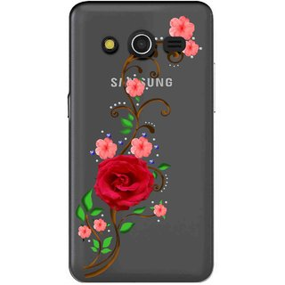 promo code e35ce 555d3 Snooky Printed Rose Mobile Back Cover of Samsung Galaxy Core 2 - Multicolour