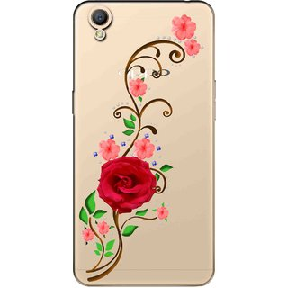 Snooky Printed Rose Mobile Back Cover of Oppo A37 - Multicolour