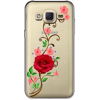 Snooky Printed Rose Mobile Back Cover of Samsung Galaxy J2 - Multicolour