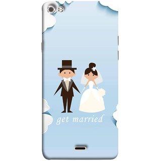 FUSON Designer Back Case Cover for Micromax Canvas Sliver 5 Q450 :: Silver Q450 (Photo Wallpaper Marriage White Dressed Bride )