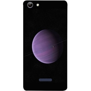 FUSON Designer Back Case Cover for Micromax Canvas Selfie 3 Q348 (Rings In Space Zoom Into Beautiful Planet And Stars)
